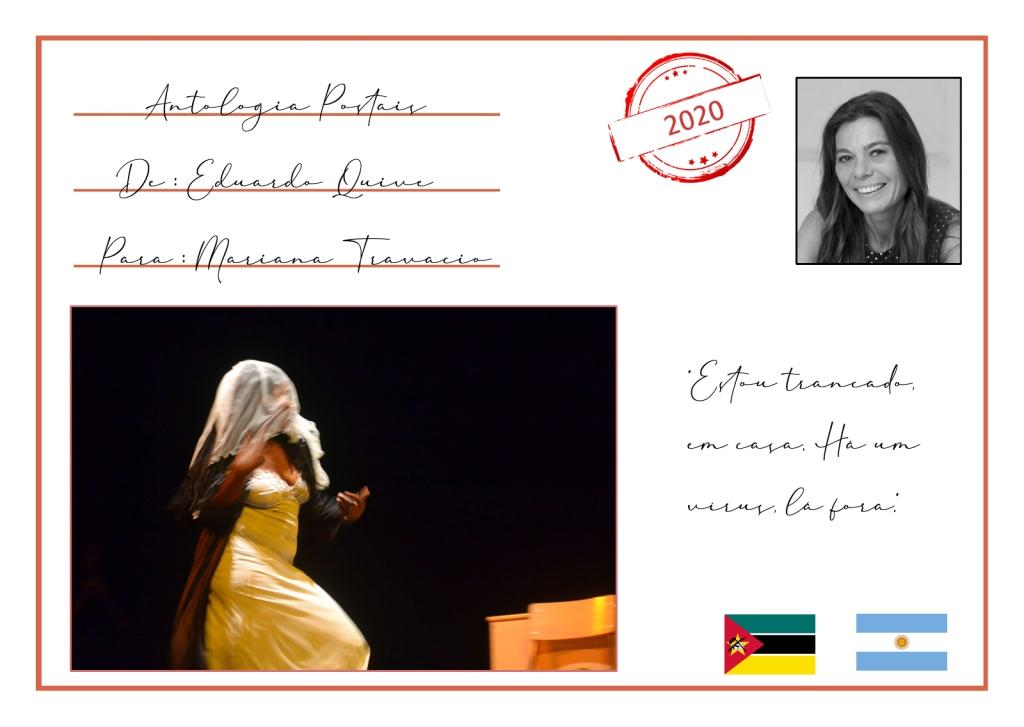 A antologia Postais estreia com uma correspondência entre Eduardo Quive (Moçambique) e Mariana Travacio (Buenos Aires)